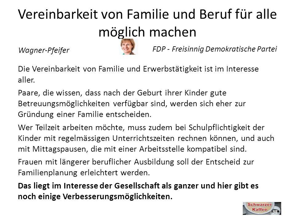 Vereinbarkeit von Familie und Beruf für alle möglich machen