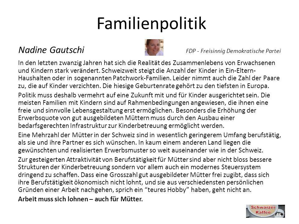 Familienpolitik Nadine Gautschi