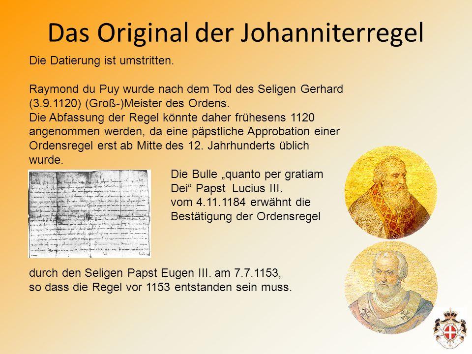 Das Original der Johanniterregel