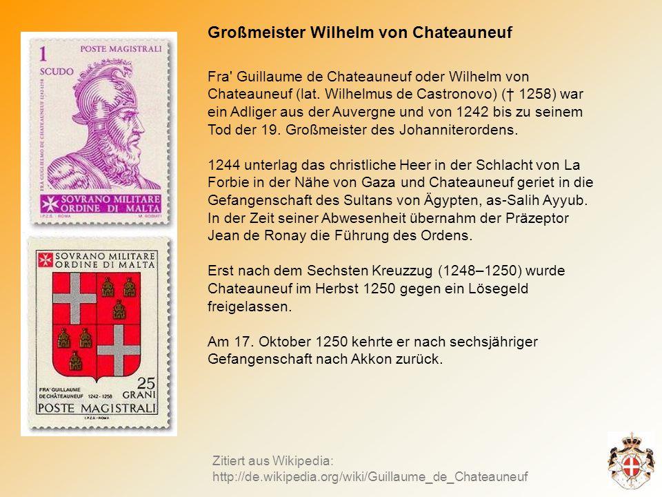 Großmeister Wilhelm von Chateauneuf