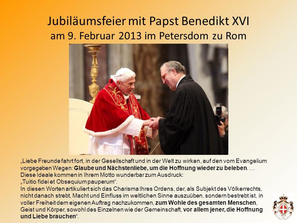 Jubiläumsfeier mit Papst Benedikt XVI am 9