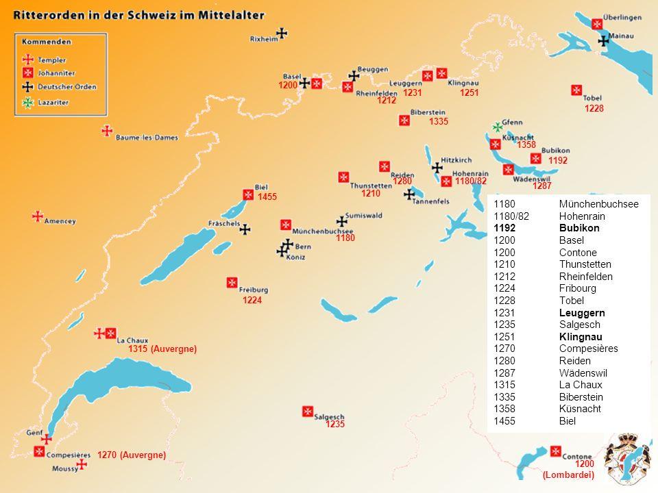 1180 Münchenbuchsee 1180/82 Hohenrain Bubikon Basel 1200 Contone