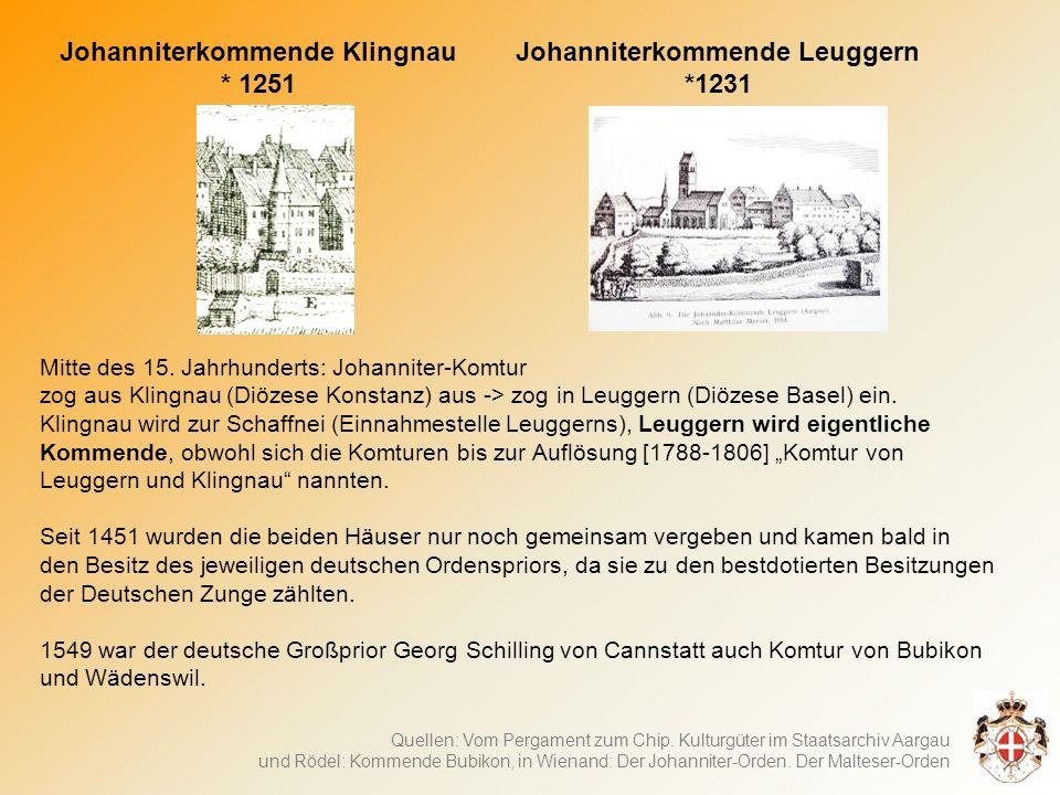 Johanniterkommende Klingnau Johanniterkommende Leuggern