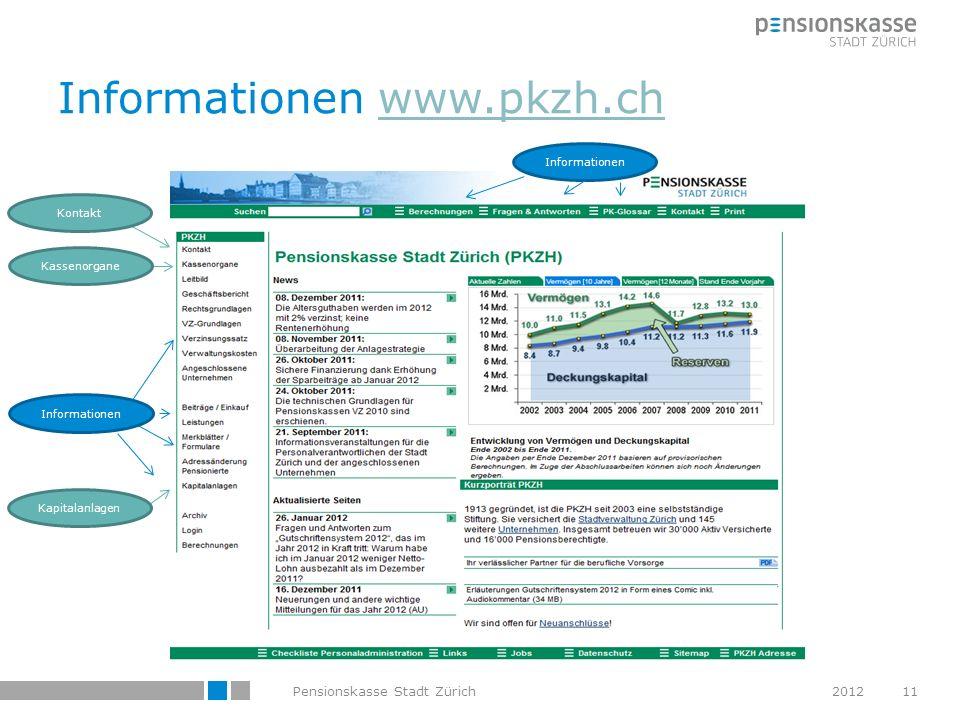 Informationen www.pkzh.ch