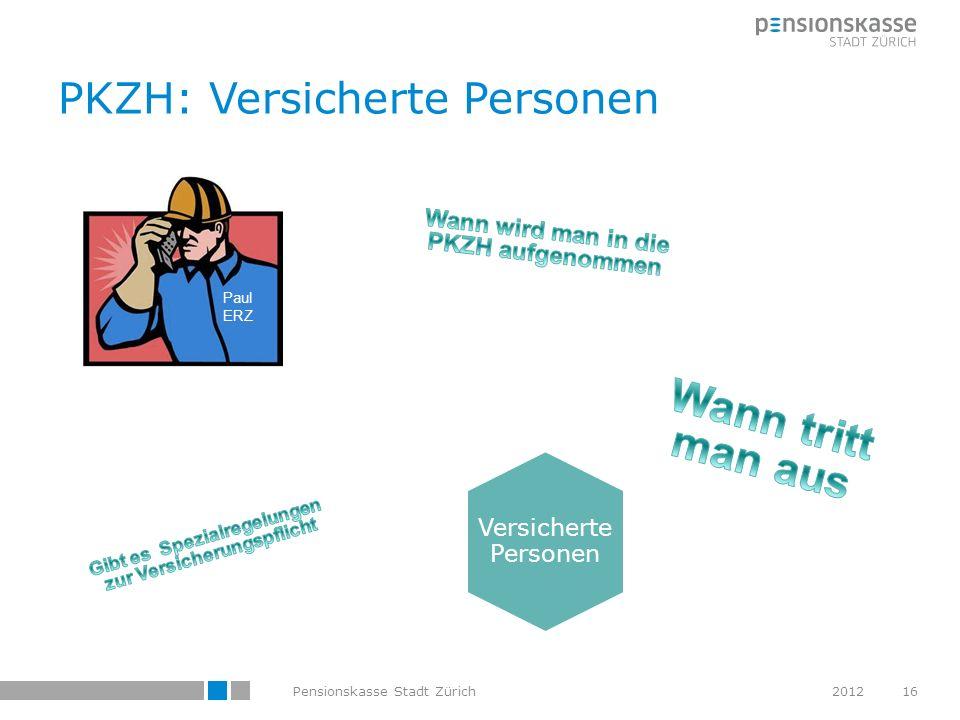 PKZH: Versicherte Personen