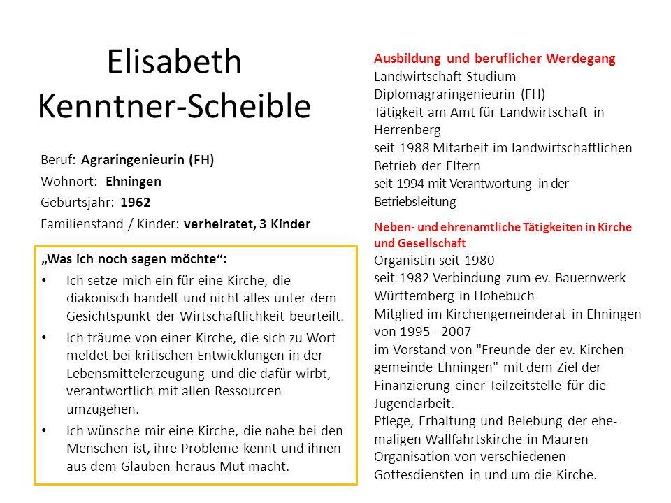 Elisabeth Kenntner-Scheible