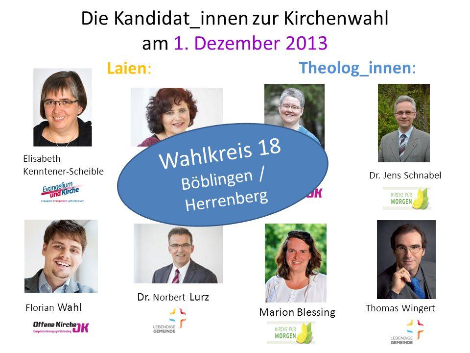 Die Kandidat_innen zur Kirchenwahl