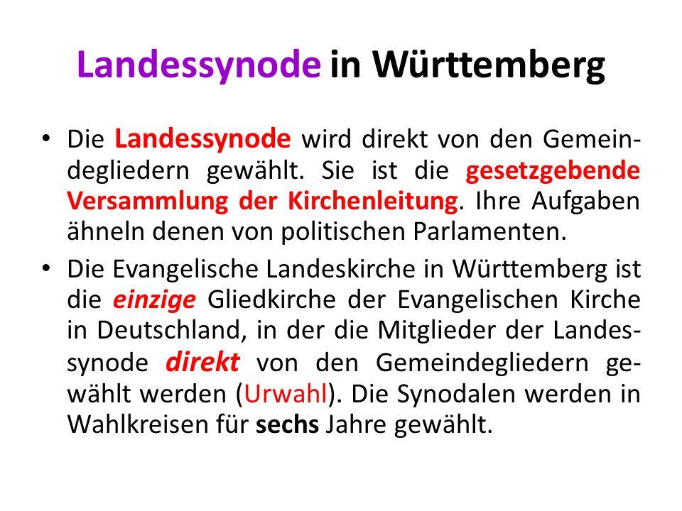 Landessynode in Württemberg