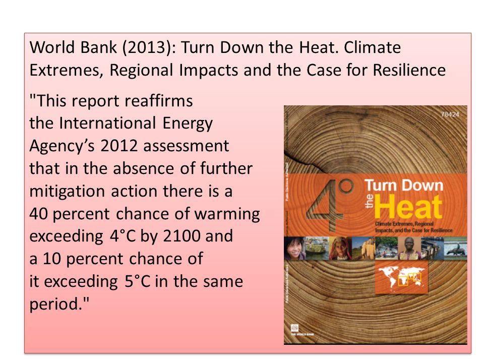World Bank (2013): Turn Down the Heat