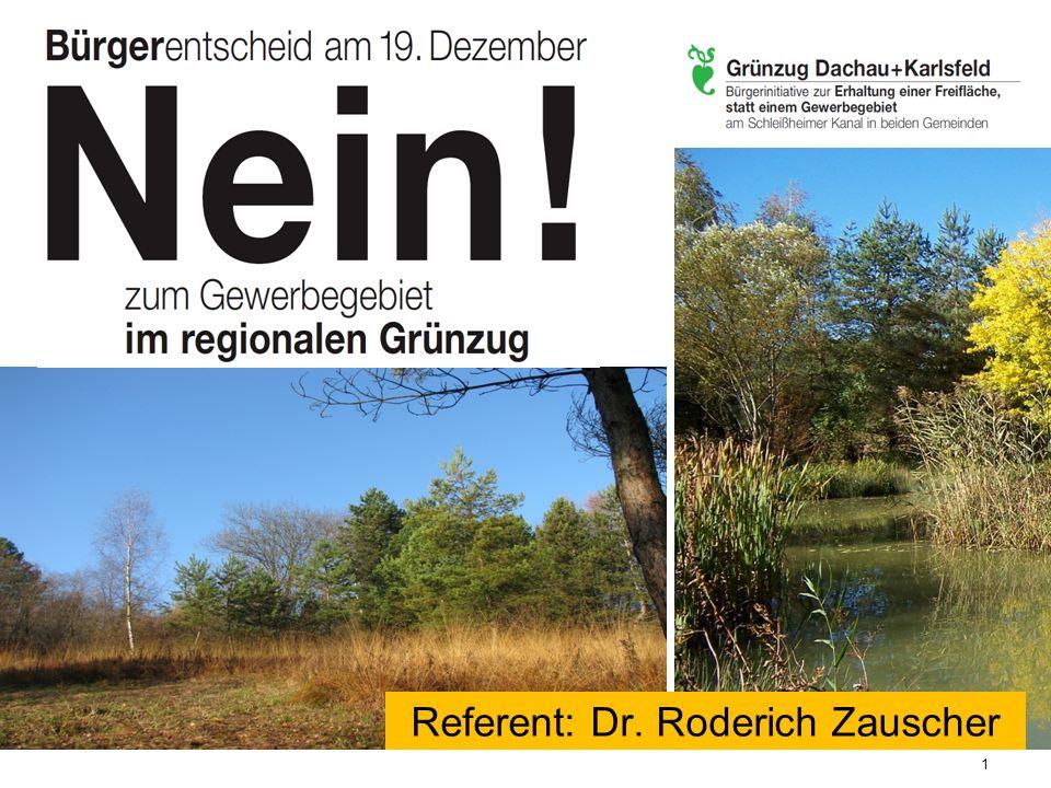 Referent: Dr. Roderich Zauscher