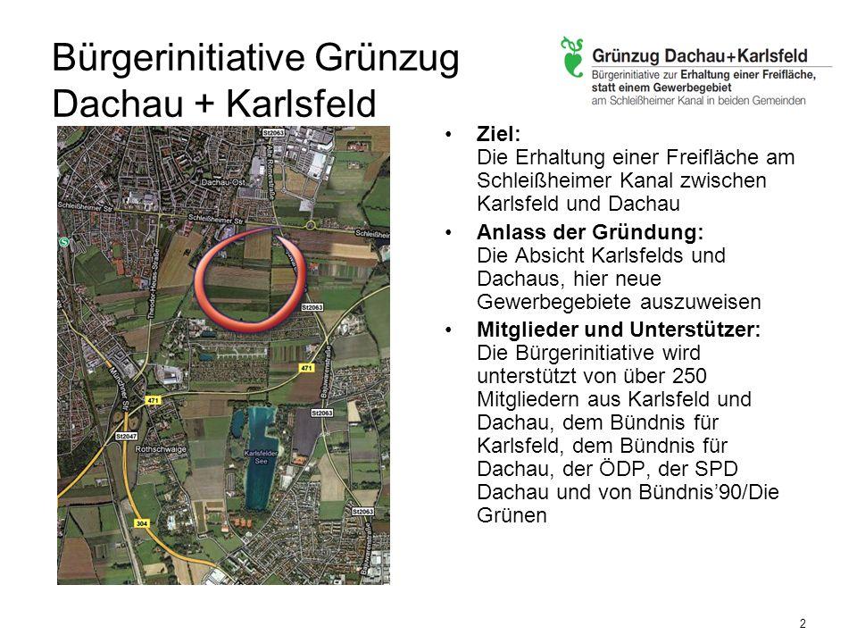 Bürgerinitiative Grünzug Dachau + Karlsfeld