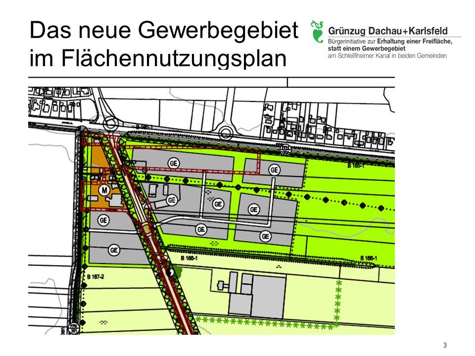 Das neue Gewerbegebiet im Flächennutzungsplan