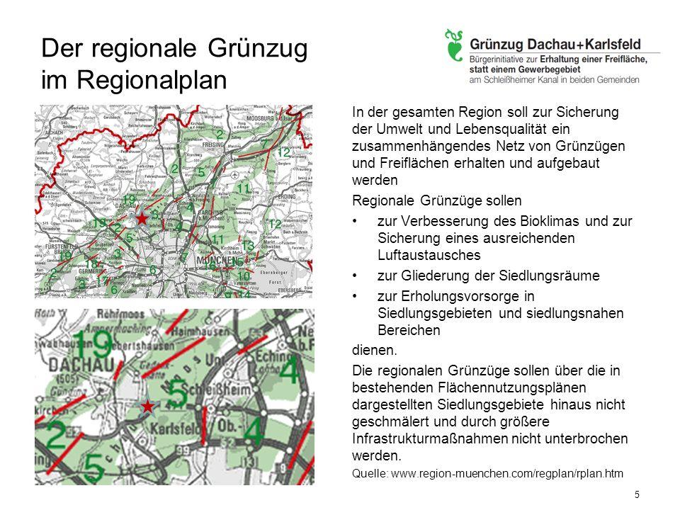 Der regionale Grünzug im Regionalplan
