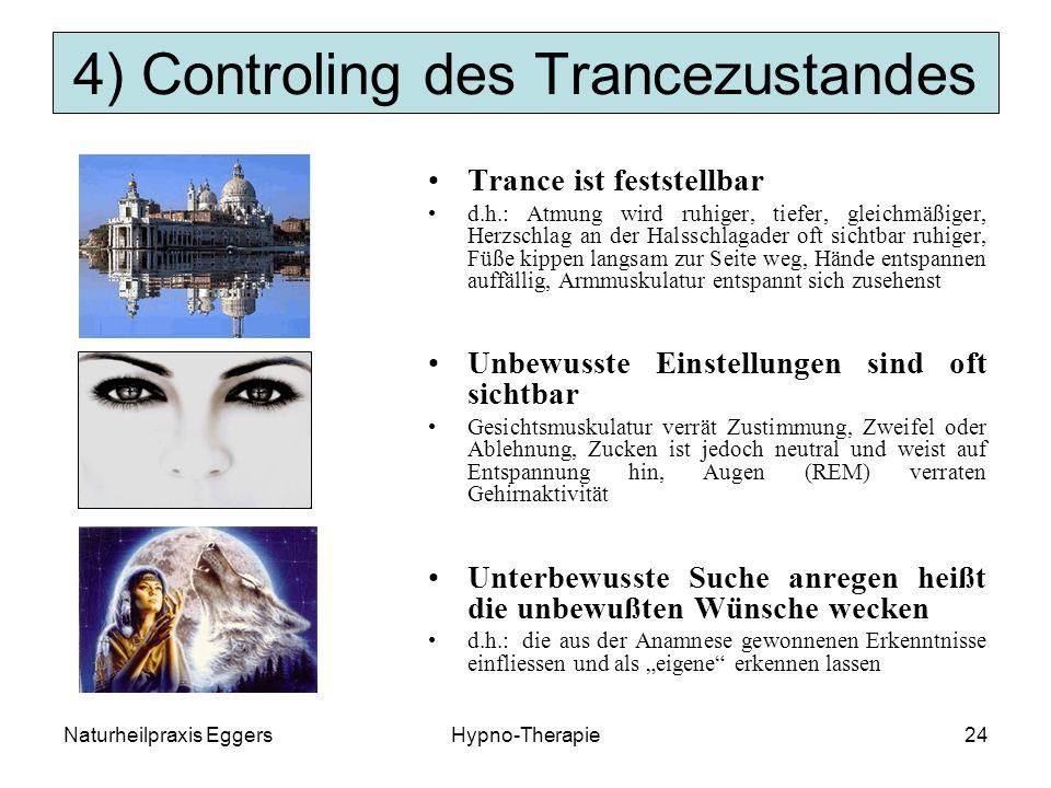 4) Controling des Trancezustandes