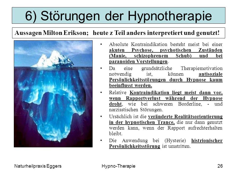 6) Störungen der Hypnotherapie