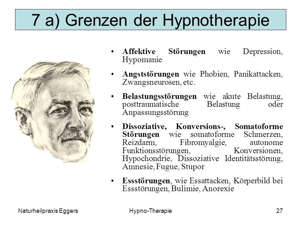 7 a) Grenzen der Hypnotherapie