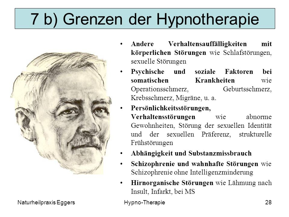 7 b) Grenzen der Hypnotherapie