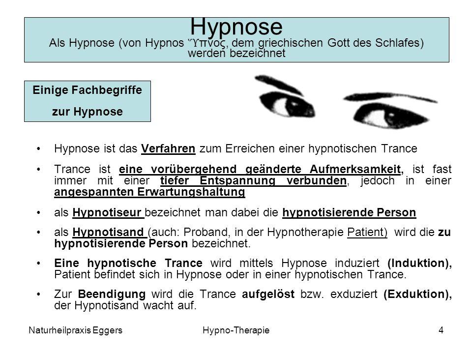 Hypnose Als Hypnose (von Hypnos Ὕπνος, dem griechischen Gott des Schlafes) werden bezeichnet