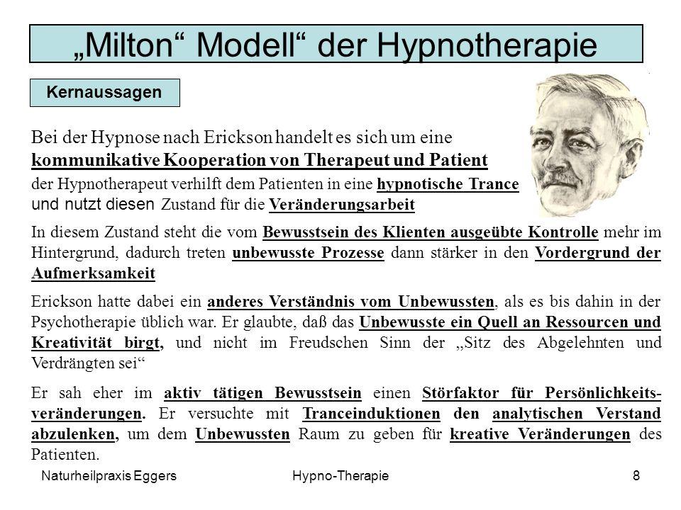 """""""Milton Modell der Hypnotherapie"""