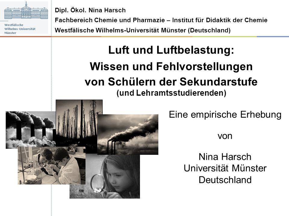 Luft und Luftbelastung: Wissen und Fehlvorstellungen