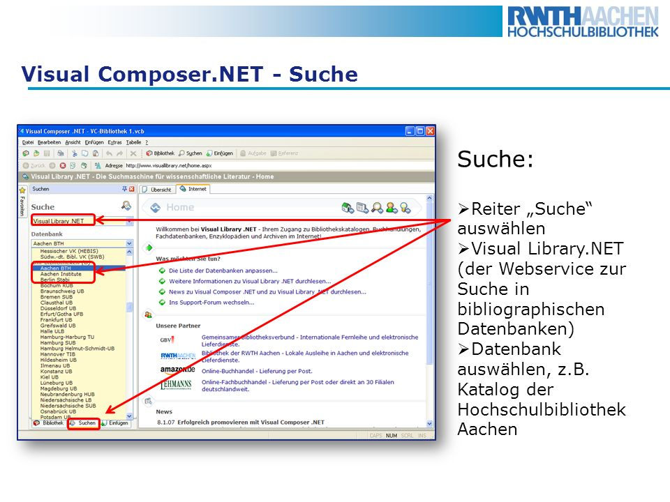Visual Composer.NET - Suche