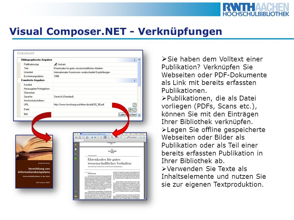Visual Composer.NET - Verknüpfungen