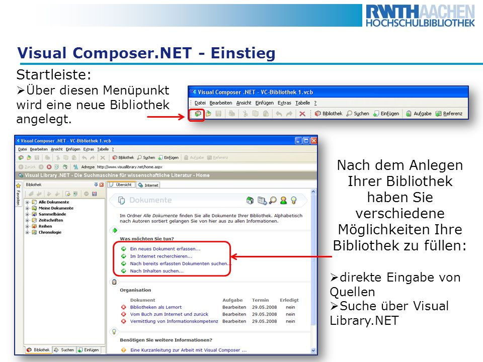 Visual Composer.NET - Einstieg