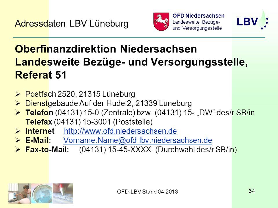 Adressdaten LBV Lüneburg