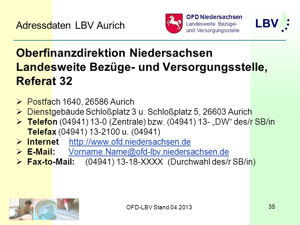 Adressdaten LBV Aurich
