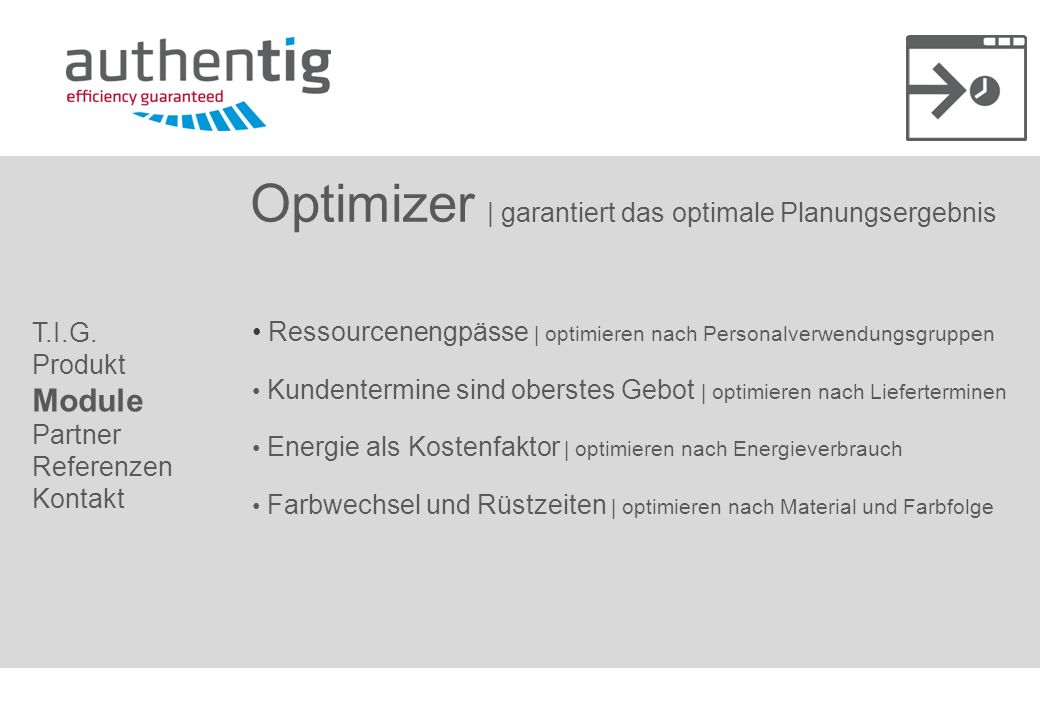 Optimizer | garantiert das optimale Planungsergebnis