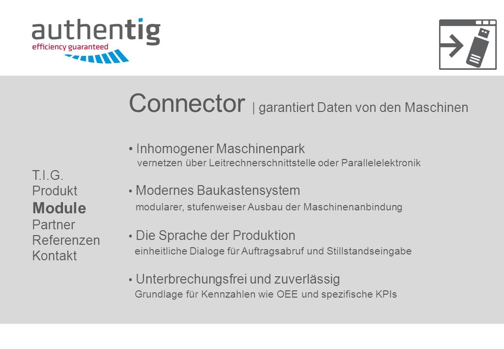Connector | garantiert Daten von den Maschinen