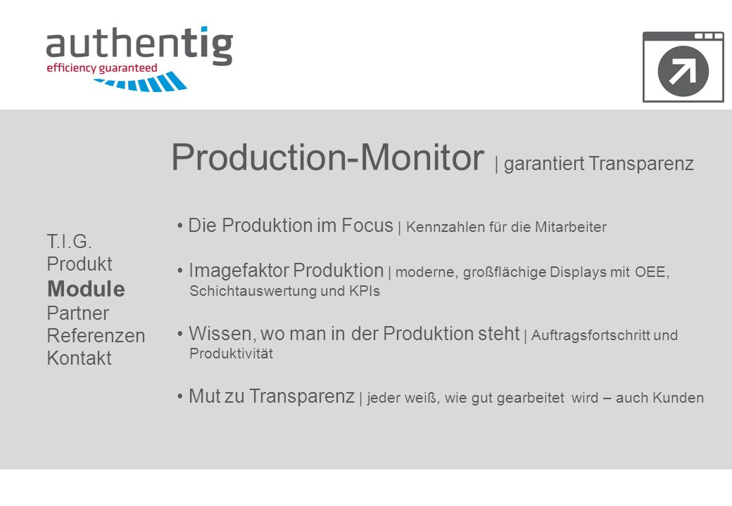 Production-Monitor | garantiert Transparenz