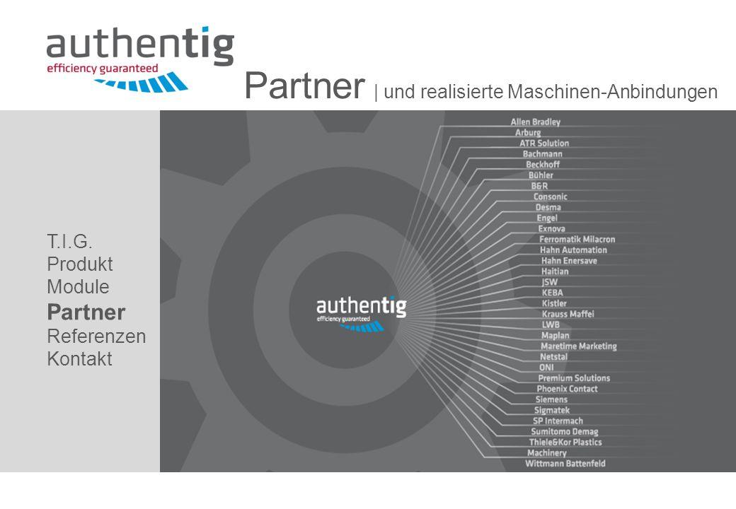 Partner | und realisierte Maschinen-Anbindungen