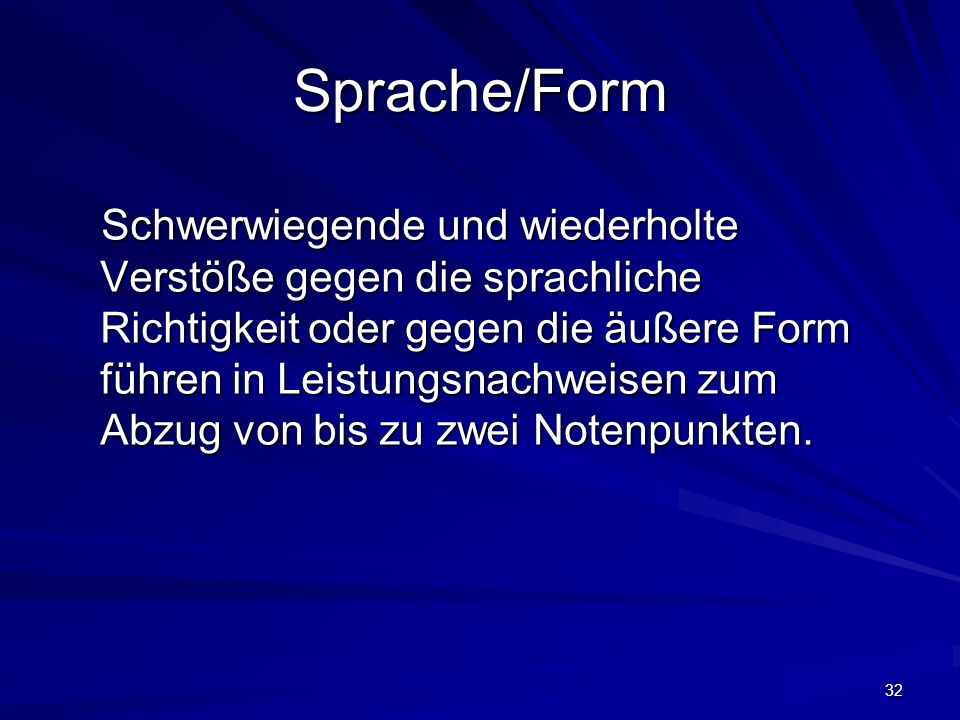 Sprache/Form