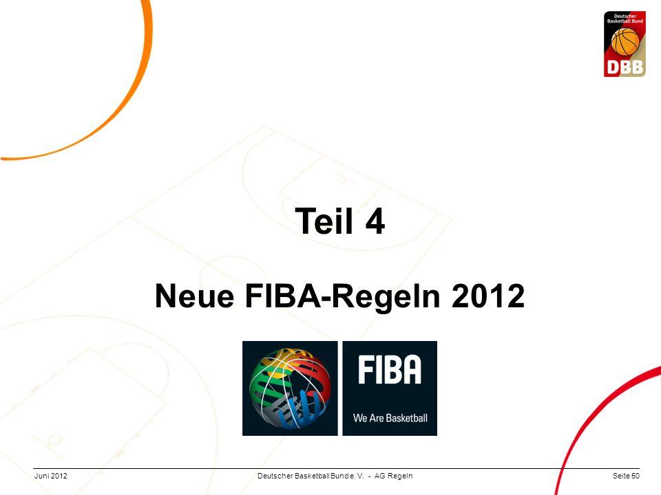 Teil 4 Neue FIBA-Regeln 2012