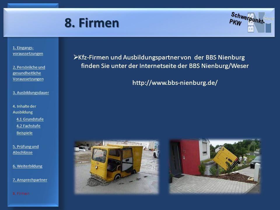 8. Firmen Kfz-Firmen und Ausbildungspartner von der BBS Nienburg
