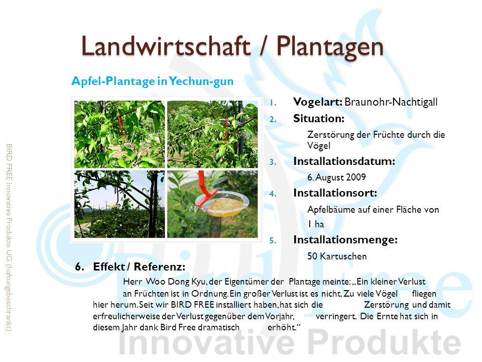 Landwirtschaft / Plantagen