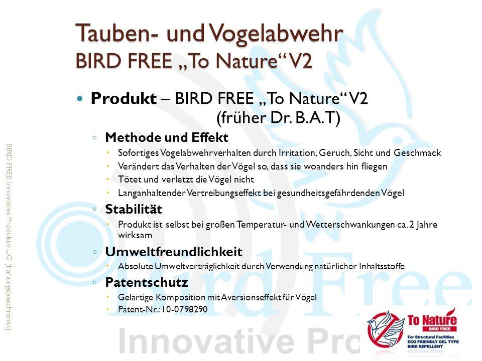 """Tauben- und Vogelabwehr BIRD FREE """"To Nature V2"""