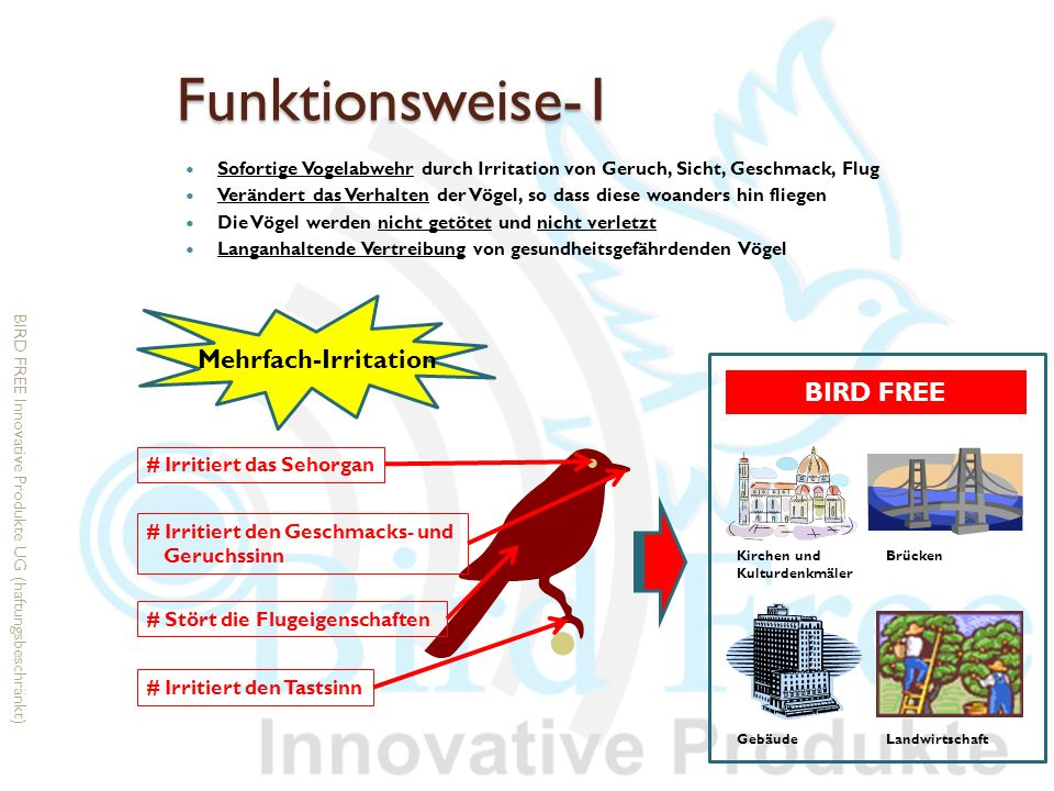 Funktionsweise-1 Mehrfach-Irritation BIRD FREE