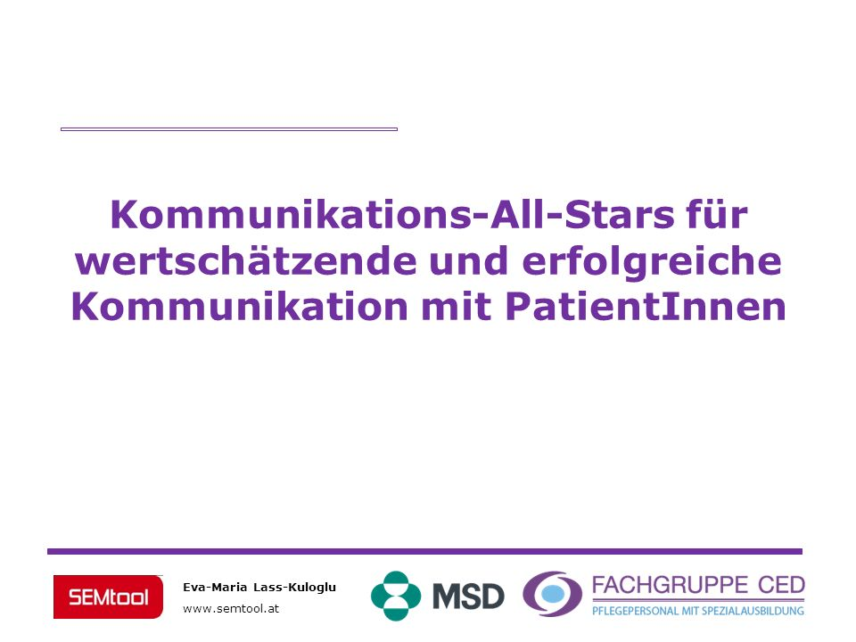 Kommunikations-All-Stars für wertschätzende und erfolgreiche Kommunikation mit PatientInnen