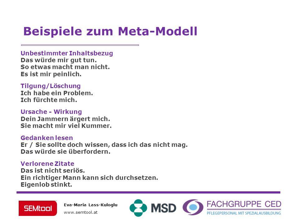 Beispiele zum Meta-Modell