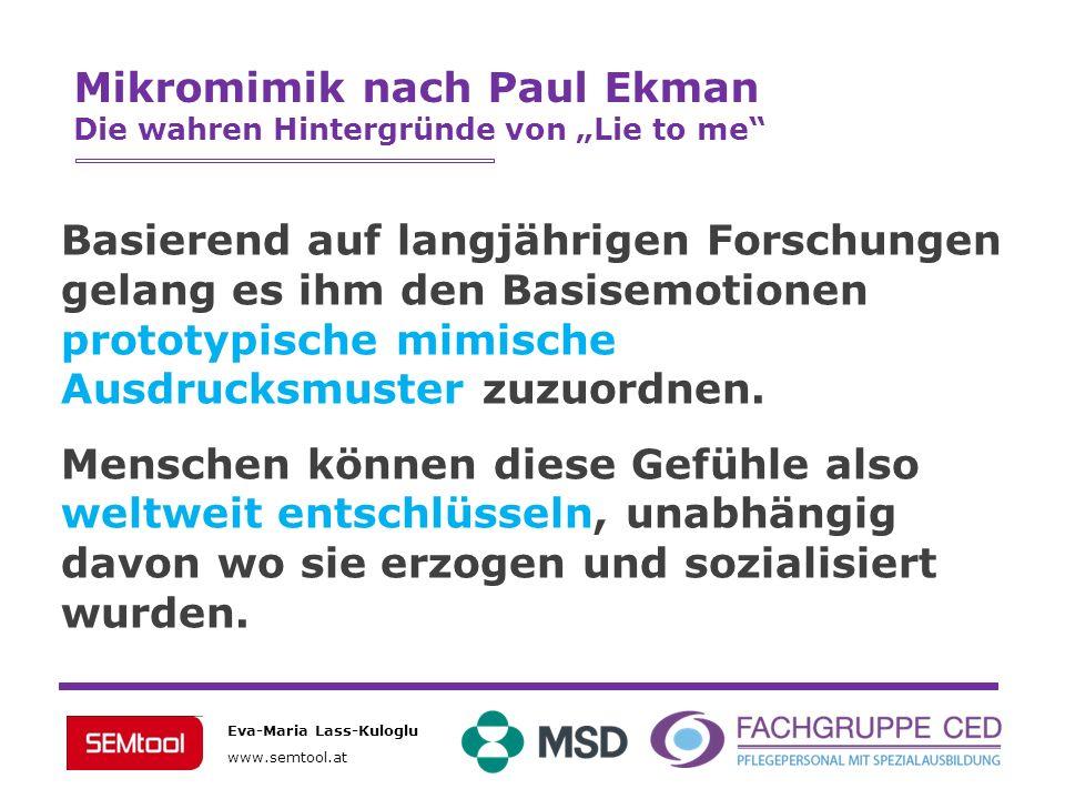 Mikromimik nach Paul Ekman