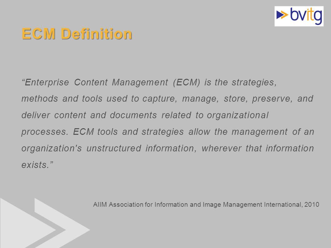 ECM Definition