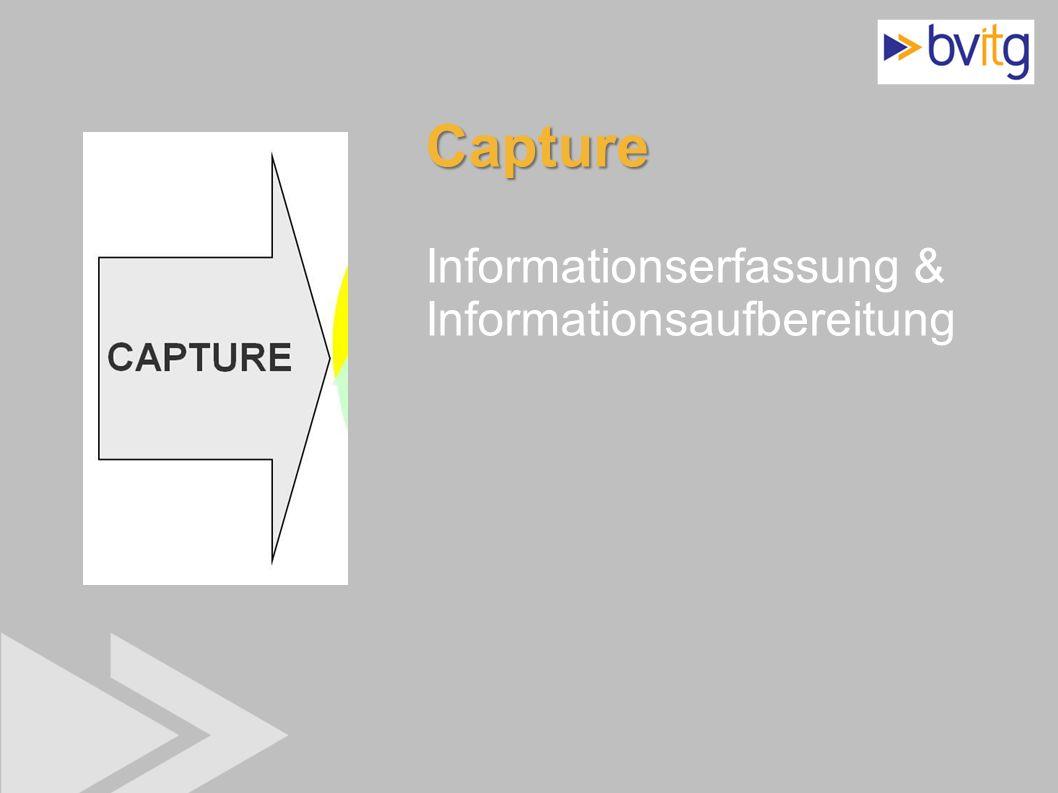 Capture Informationserfassung & Informationsaufbereitung