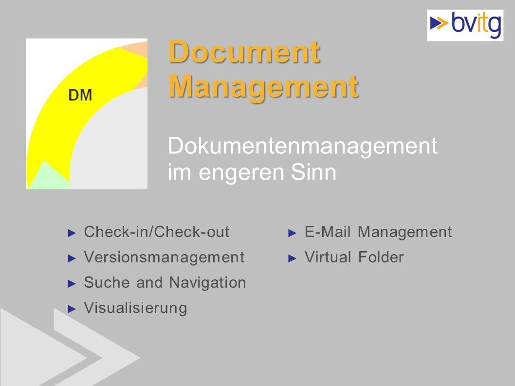 Document Management Dokumentenmanagement im engeren Sinn
