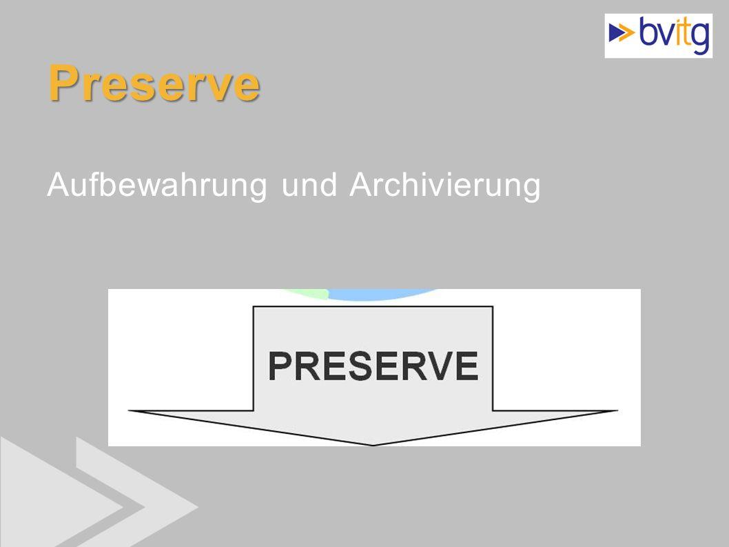 Preserve Aufbewahrung und Archivierung