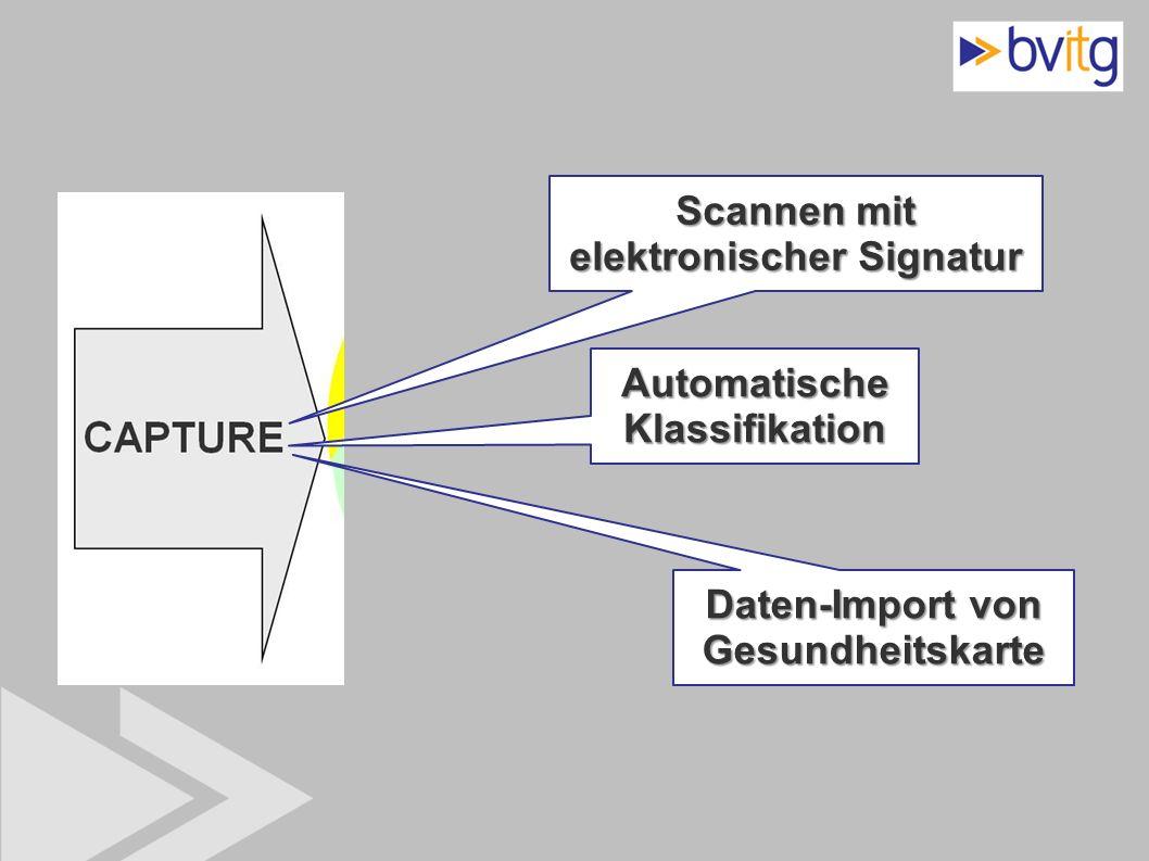 Scannen mit elektronischer Signatur