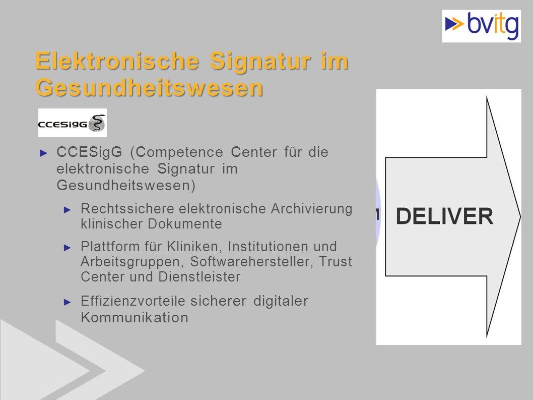 Elektronische Signatur im Gesundheitswesen