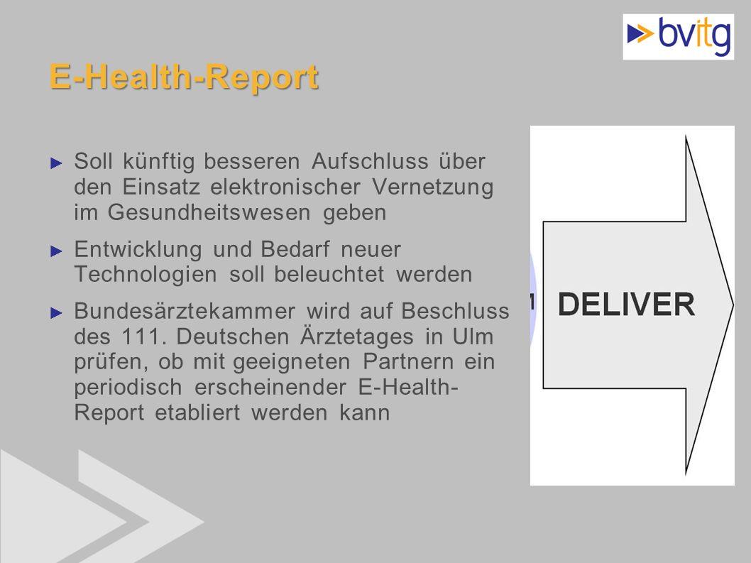 E-Health-Report Soll künftig besseren Aufschluss über den Einsatz elektronischer Vernetzung im Gesundheitswesen geben.