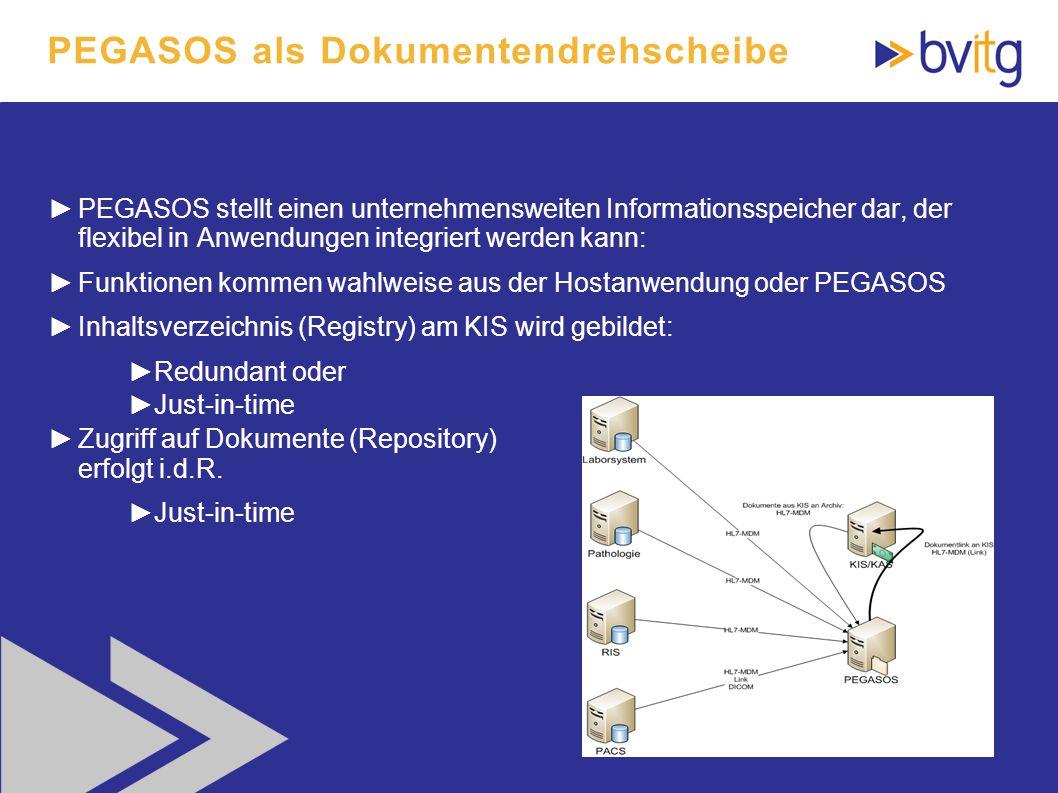 PEGASOS als Dokumentendrehscheibe